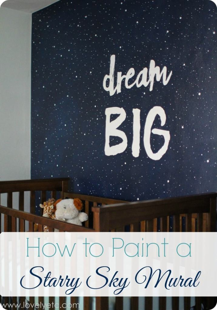 DIY Night Sky Mural