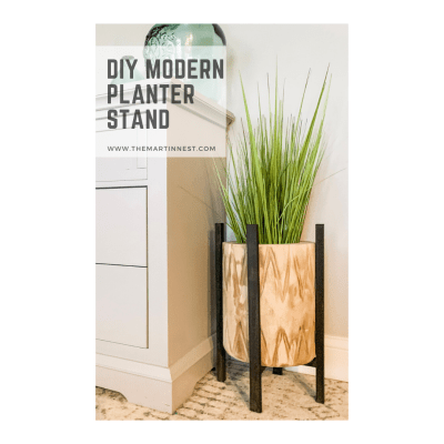 A DIY modern planter stand from scrap wood