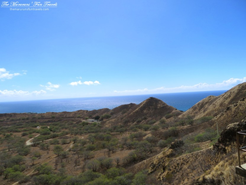 Ocean View from The Lookout located halfway up Diamond Head