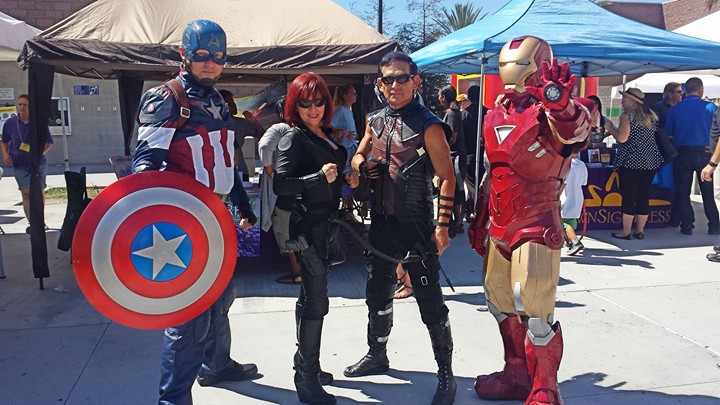 Cosplay Avengers Captain America Black Widow Hawkeye Iron Man