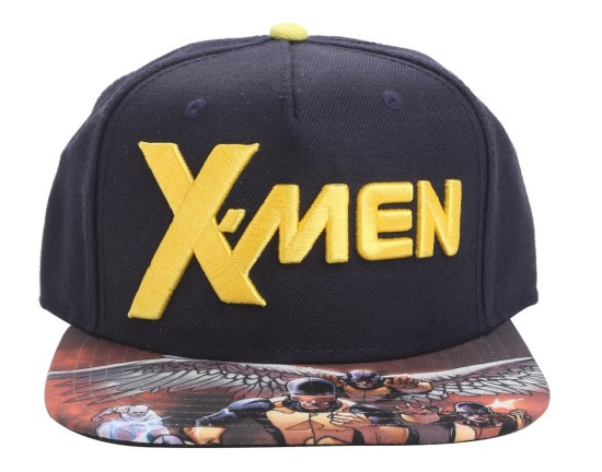 The original five X-men are featured on this snapback hat