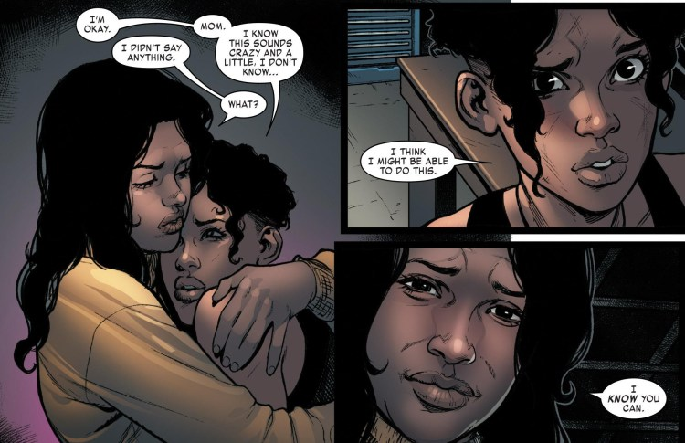 Invincible Iron Man #5 Review Riri and Mom