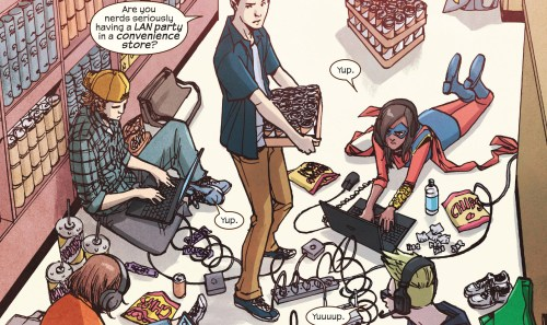 Ms. Marvel #17 Review Cover LAN Party