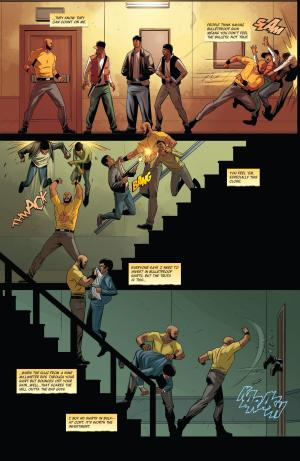 Luke Cage #1 Staircase Fight