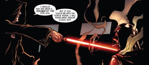 Darth Vader #1 Review Darth Vader vs Darth Sidious 2