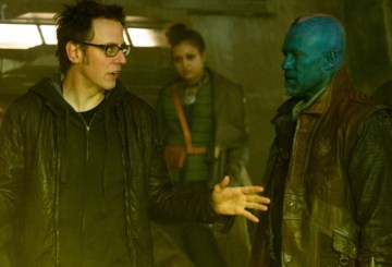 James Gunn on the set of Guardians Of The Galaxy Vol. 2
