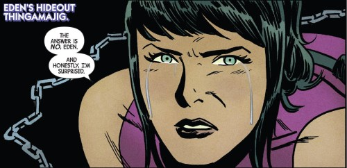 Hawkeye #14 Review Kate Crying