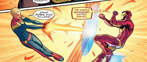 Champions #21 Review Ironheart and Captain Marvel