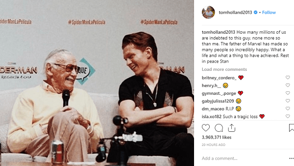 Stan Lee Tom Holland