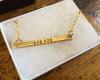 skinny brass necklace
