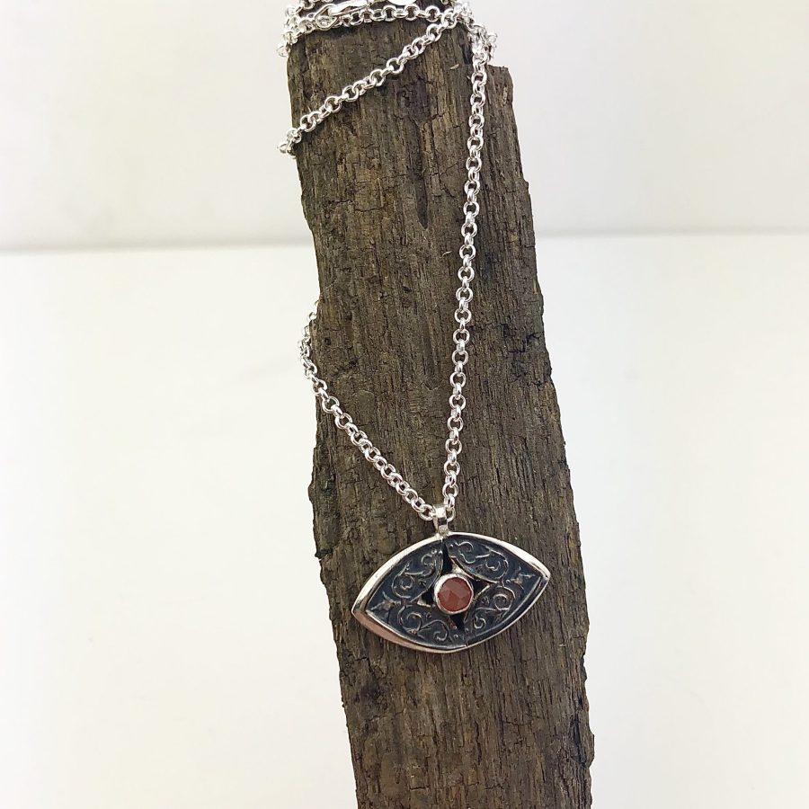 evil eye moonstone necklace