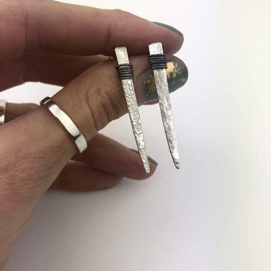 Vintage fork earrings