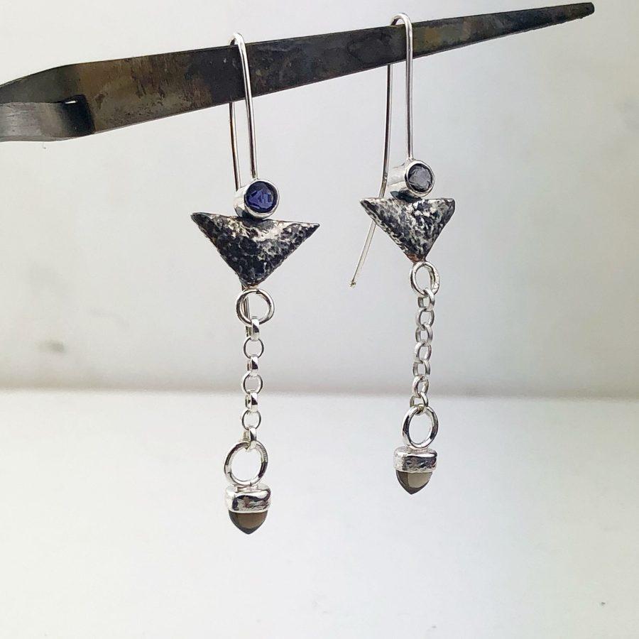 iolite earrings