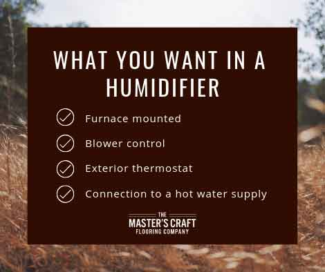 What you want in a humidifier
