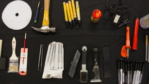 Wood floor touch up kit