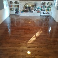Beautiful Espresso Duraseal Stain & Masterline Satin Polyurathane completed this project. Thanks Masterscraft!