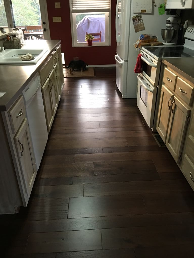 Saltbox Bedford from Real Wood Floors installed in a kitchen