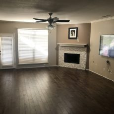 The floor is beautiful! The color is perfect and the quality is great! <br /> <small>Photographer: Angie Castillo </small><small>    Location: Living and Dining Room </small>