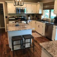 Rear Entry- Dining- Kitchen - Living Room- Remodel <br /> <small>Photographer: Ashley Sauls </small><small>    Location: Omaha, Nebraska </small><small>    Business: Timberland Hardwood Floors Inc. </small><br />