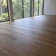 New residential build with white oak floors that were sanded.