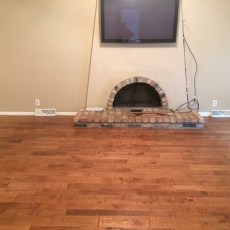 Living room addition. <br /> <small>Photographer: Jennifer Spiker </small><small>Location: Omaha, Nebraska </small><small>Business: Husker Hardwood Floors </small><br />