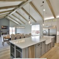 Vintage Loft Millhouse in a Texas home. Installed by Nelson Construction in Abilene, Texas.
