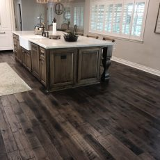 "Storehouse ""Barrel"" White Oak floor from Real Wood Floors installed in a kitchen in Altus, OK.  <br /> <small>Photographer: Joe Conway </small><small>    Location: Lawton, OK </small><small>    Business: Conway Custom Marble </small><br />"