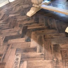 "Storehouse ""Barrel"" White Oak floor from Real Wood Floors installed in a herringbone pattern in Altus, OK.  <br /> <small>Photographer: Joe Conway </small><small>    Location: Lawton, OK </small><small>    Business: Conway Custom Marble </small><br />"