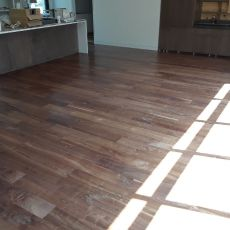 "6"" Walnut with Emulsion installed by Mike Rangel in Kansas City.  <br /> <small>Photographer: Mike Rangel </small><small>    Location: Kansas City </small><small>    Business: Midwest Hardwood </small><br />"