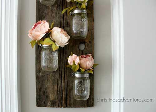 Mason jars wood project