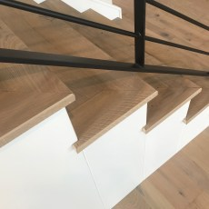 Longhouse Plank FloorNose Mödling Staircase <br /> <small>    Location: Norman, OK </small><small>    Business:  Stonewall Homes  </small><br />