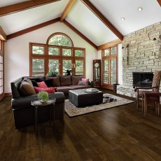 Ponderosa San Marcos from Real Wood Floors installed in a living room. <br />