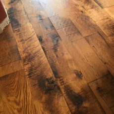 Buffalo River Old Mill White Oak installed by Colorado Custom Hardwoods. <br />