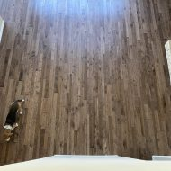 Durango Sorghum installed by Wood Floors Dallas, in Dallas, Texas. This floor is a multi-width solid prefinished hickory with genuine handscraping.