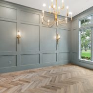 Silvian Nature (Luonto), crafted with FloorMade Patterned Flooring. Installed by Silverwood Builders in Houston, TX. Photography by Feather & Arrow