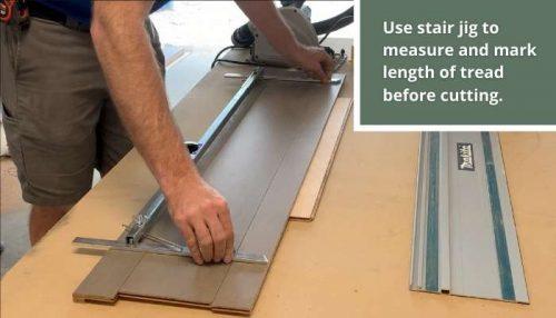 measuring stair tread