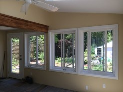 Sun room addition remodel