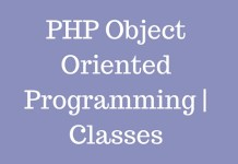 PHP Object Oriented Programming | Classes