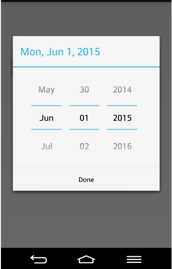 Alt Tag android output image of date setting
