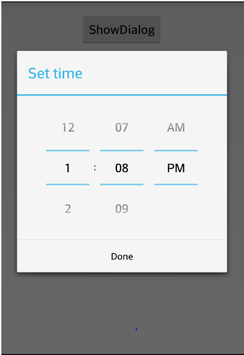 Alt Tag android time picker output image