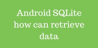 Android SQLite how can retrieve data