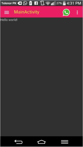 Alt Tag Navigation Drawer in material design output image