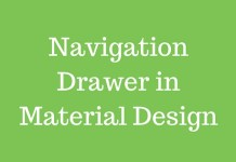 Navigation Drawer in Material Design