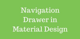 Navigation Drawer in Material Design