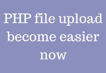 PHP file upload become easier now