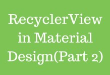 RecyclerView in Material Design(Part 2)