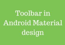Toolbar in Android Material design