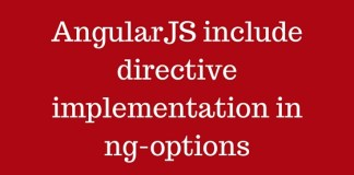 AngularJS include directive implementation in ng-options