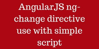 AngularJS ng-change directive use with simple script