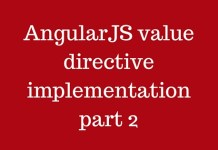 AngularJS value directive implementation part 2